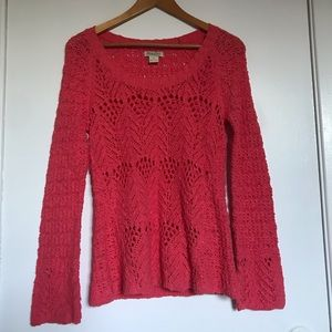 Lucky Brand  Lace/knit sweater size small